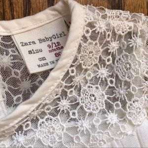 NWOT Zara Babygirl Cream Tulle & Lace Dress